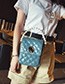 Fashion Blue Grids Pattern Decorated Bag