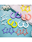 Fashion Yellow Star Shape Design Pure Color Earrings