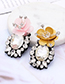 Fashion Gray Flower Shape Decorated Earrings