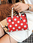 Fashion White Spot Pattern Decorated Shouder Bag