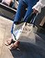 Fashion White Letter Pattern Decorated Shoulder Bag (2 Pcs)