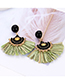 Vintage Green Tassel Decorated Earrings