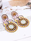 Fashion Yellow Hollow Out Design Earrings