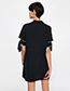 Trendy Black Pure Color Design Loose Dress