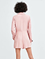 Trendy Pink Pure Color Decorated Long Sleeves Jumpsuits