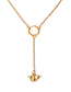 Fashion Gold Color Bee Shape Decorated Necklace