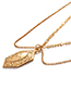 Fashion Gold Color Geometric Shape Decorated Necklace