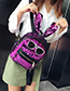 Fashion Dark Pink Rabbit Shape Decorated Backpack