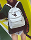 Fashion White Letter Pattern Decorated Backpack