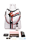Fashion White Stripe Pattern Decorated Backpack