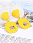 Fashion Yellow Irregular Shape Decorated Earrings