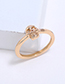 Simple Gold Color Skull Shape Decorated Pure Color Ring