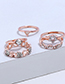 Fashion Rose Gold Star&heart Shape Decorated Earrings