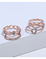 Fashion Rose Gold Heart Shape Decorated Hollow Out Earrings