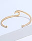 Simple Rose Gold Pure Color Decorated Bracelet