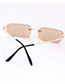 Fashion White Pure Color Decorated Sunglasses