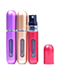 Fashion Silver Color Pure Color Decorated Cosmetic Bottle