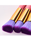 Fashion Pink Flat Shape Decorated Makeup Brush(10pcs)