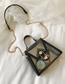 Fashion White Jelly Plastic Mother-of-pearl Doodle Shoulder Chain Messenger Bag