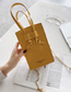 Fashion Yellow Crossbody Chain Jelly One Shoulder Small Square Bag
