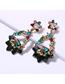 Fashion Black Alloy Diamond Colored Earrings