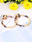 Fashion Leopard Alloy Resin Circle Earrings