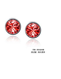 Lined Skin Red Earrings Alloy Crystal Earrings