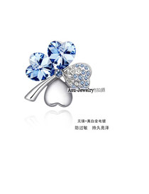 Mobile Blue Brooch Alloy Crystal Brooches