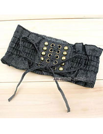 Hiking Black Wild Lace Belt Girdle Cloth Wide belts
