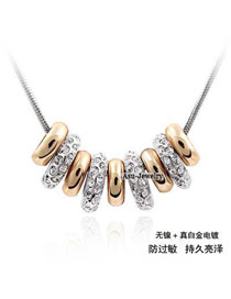 Elegant Silver Color Pierce The Well-Being Crystal Crystal Necklaces