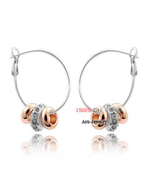 Preppy White Earrings Alloy Crystal Earrings