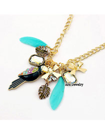 Mini Multicolour Leiothrix Feather Alloy Chains