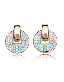 Health Blue Earrings Alloy Crystal Earrings