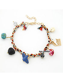 Down Multicolour Cartoon Pendant Alloy Fashion Anklets
