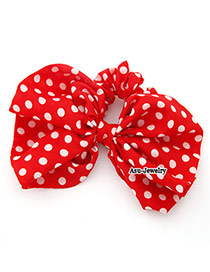 Padded Red Bowknot Cotton Hair band hair hoop