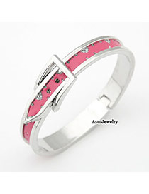 Musical Plum Red Belt Alloy Fashion Bangles