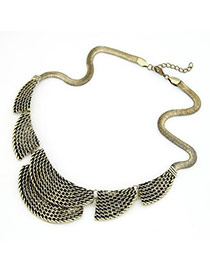 Maternity Bronze Harbor Shape Alloy Bib Necklaces