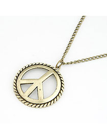 Elephant Gold Color Peace Sign Shape Alloy Chains