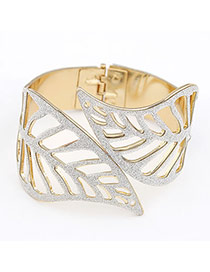 Sanctuary White Leaf Alloy Fashion Bangles