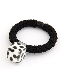 Stainless white Leopard Square Shape Leopard Pattern Resin Hair band hair hoop