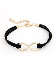 Baroque Black Rivet Design Alloy Korean Fashion Bracelet