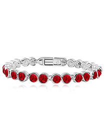 Puritan light Red Bracelet  Crystal Bracelets