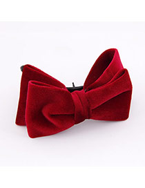 2011 Red Double Layer Bow Cotton Hair clip hair claw