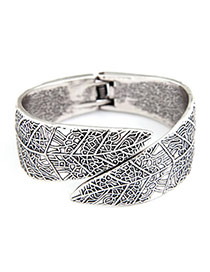 Pantsuit Antique Silver Punk Alloy Fashion Bangles