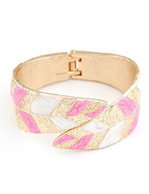 Cool Gold Color Punk Metallic Trend Leaf Alloy Fashion Bangles