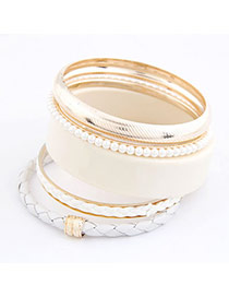 Native Gold Color Multilayer Alloy Fashion Bangles