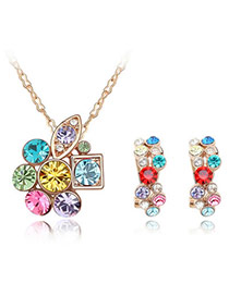 Celebrity Multicolour Set-Delicately Prettyr Alloy Crystal Sets