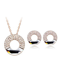 Reversible White Set-Concentric Circles Alloy Crystal Sets