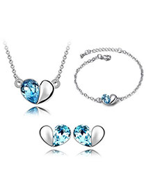 Contempora Sea Blue Set-Magic Words Alloy Crystal Sets