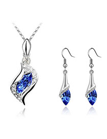 Rhinestone Blue Set-Angel Alloy Crystal Sets